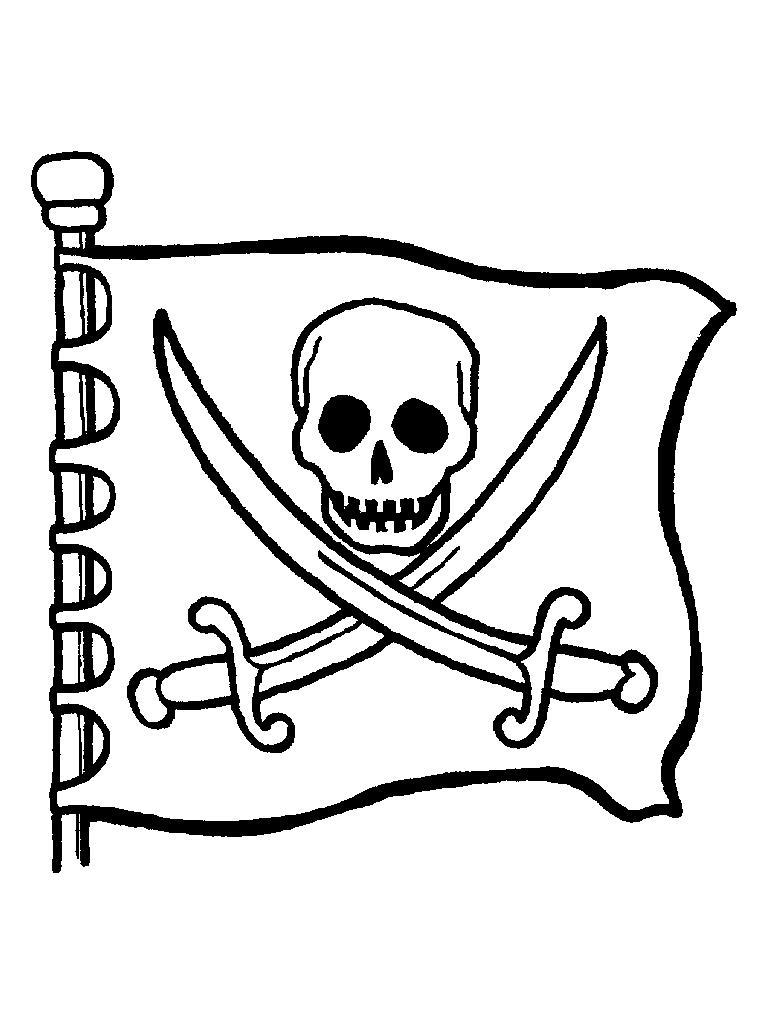 Пиратский флаг Раскраски для мальчиков
