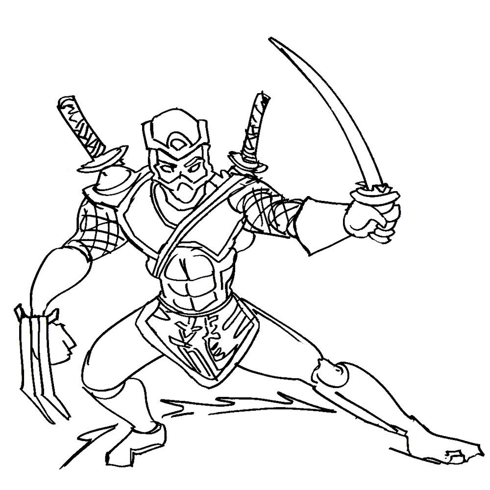 Шредер с мечами Раскраски для мальчиков