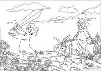 Алеша попович с мечом Раскрашивать раскраски для мальчиков