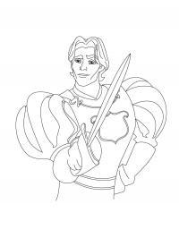 Принц с мечом Раскрашивать раскраски для мальчиков