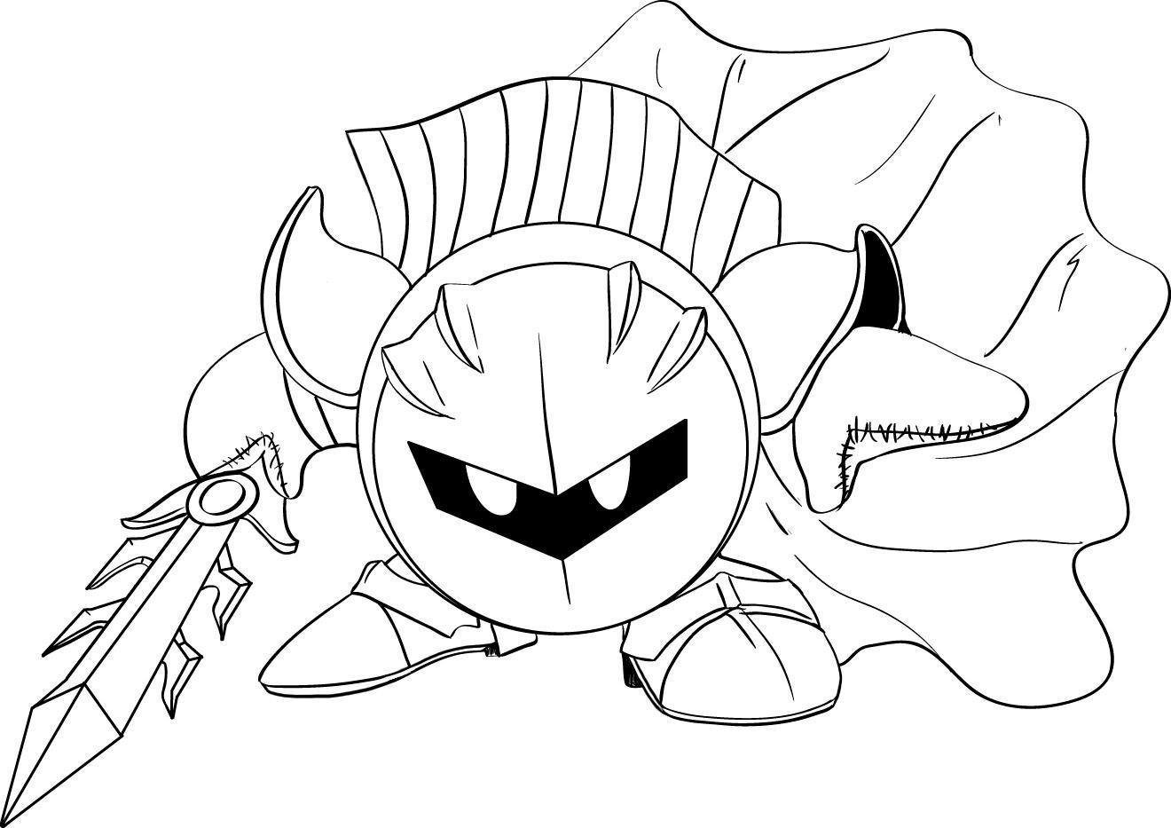 Маленький робот с мечом Раскрашивать раскраски для мальчиков