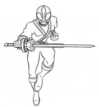 Паур рейнджер с мечом Раскрашивать раскраски для мальчиков