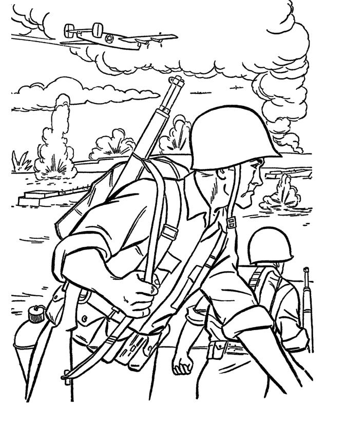 Velikaya Otechestvennaya Vojna Vojna Soldaty Pole Boya Raskraski Dlya Detej Malchikov