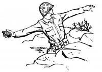 Солдат бросает гранату Раскраски для мальчиков