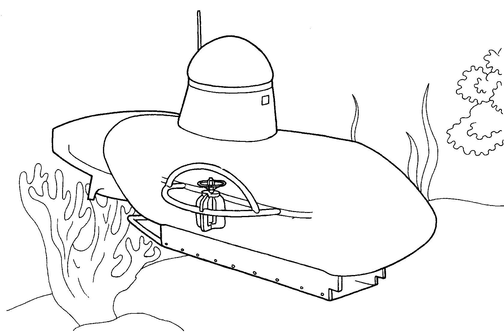 Подводная лодка Раскраски для мальчиков