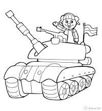 Девочка в танке Раскраски для мальчиков