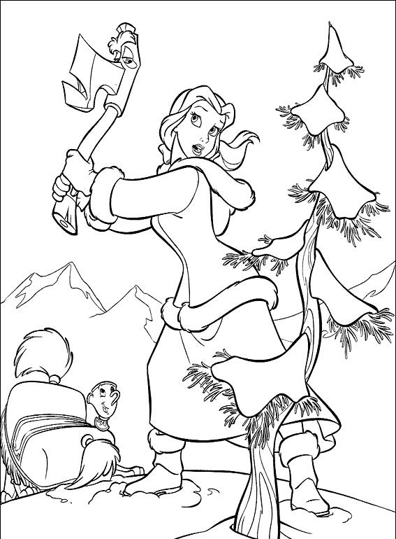 Девушка рубит дерево Раскрашивать раскраски для мальчиков