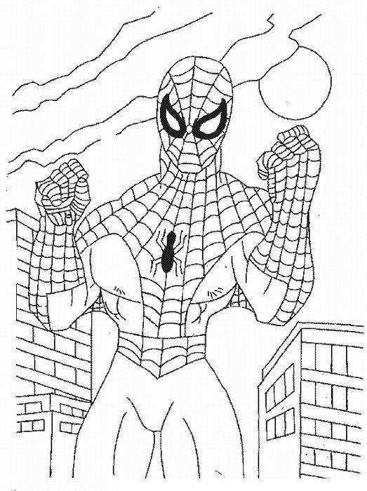 Раскраска спайдермен спайдермен раскраски человек-паук ...