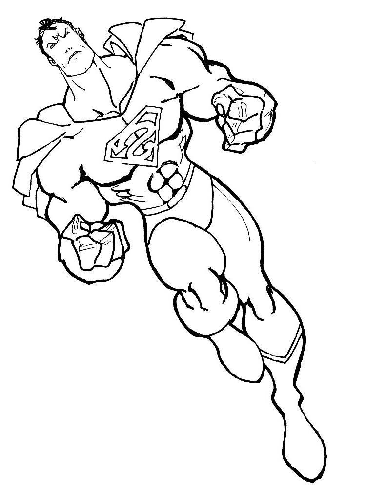 Супермен мощный Раскраски для мальчиков