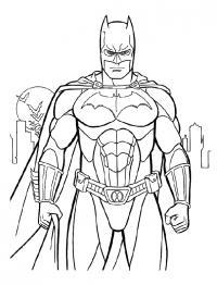 Серьезный бэтмен сжал кулаки Раскраски для мальчиков