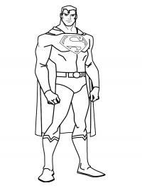 Супермен серьезно настроен Раскраски для мальчиков