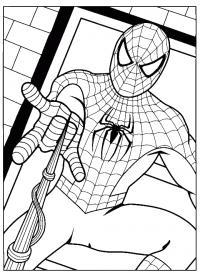 Человек паук вызывает на бой Распечатать раскраски для мальчиков