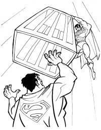 Два супермена дерутся Раскраски для мальчиков