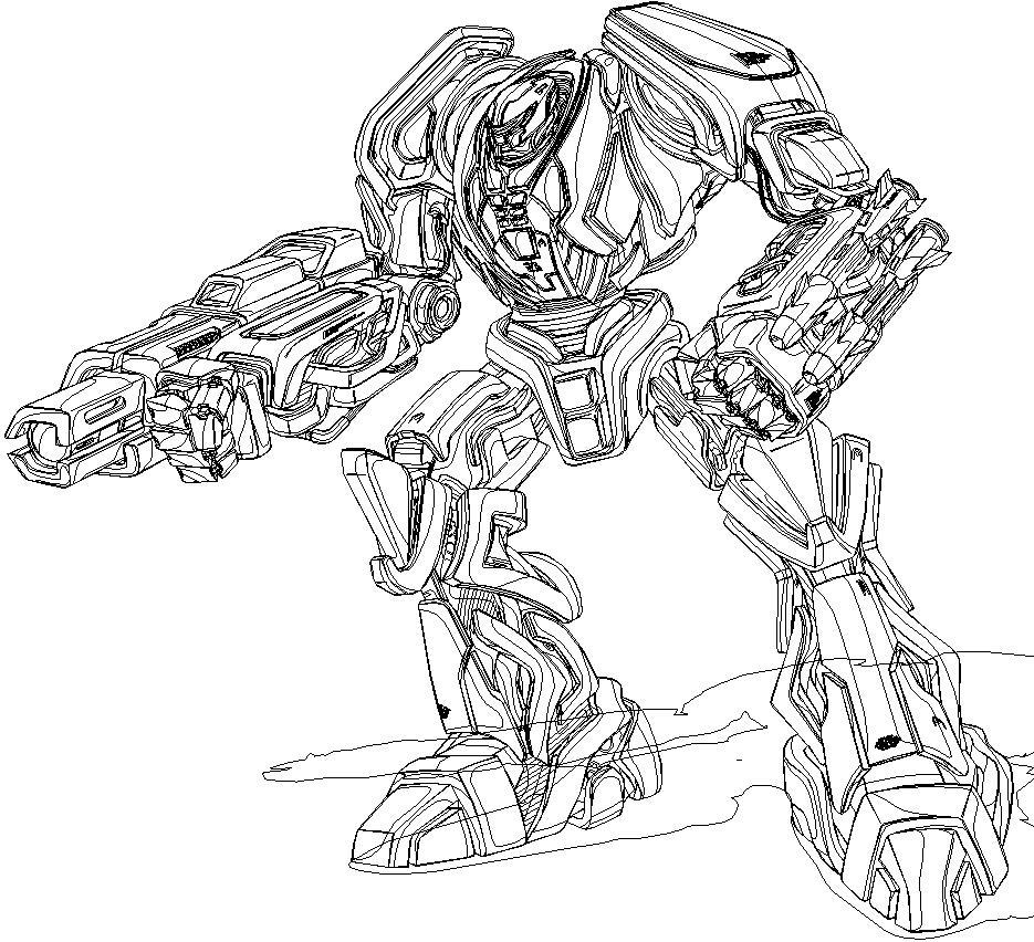 Роботы Раскраски для детей мальчиков