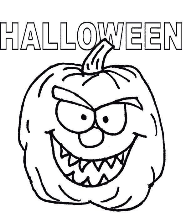Тыква на хэллоуин Скачать раскраски для мальчиков