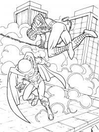 Человек паук Раскраски для мальчиков