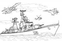 Большой авианосец Раскрашивать раскраски для мальчиков