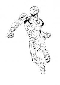 Железный человек Распечатать раскраски для мальчиков