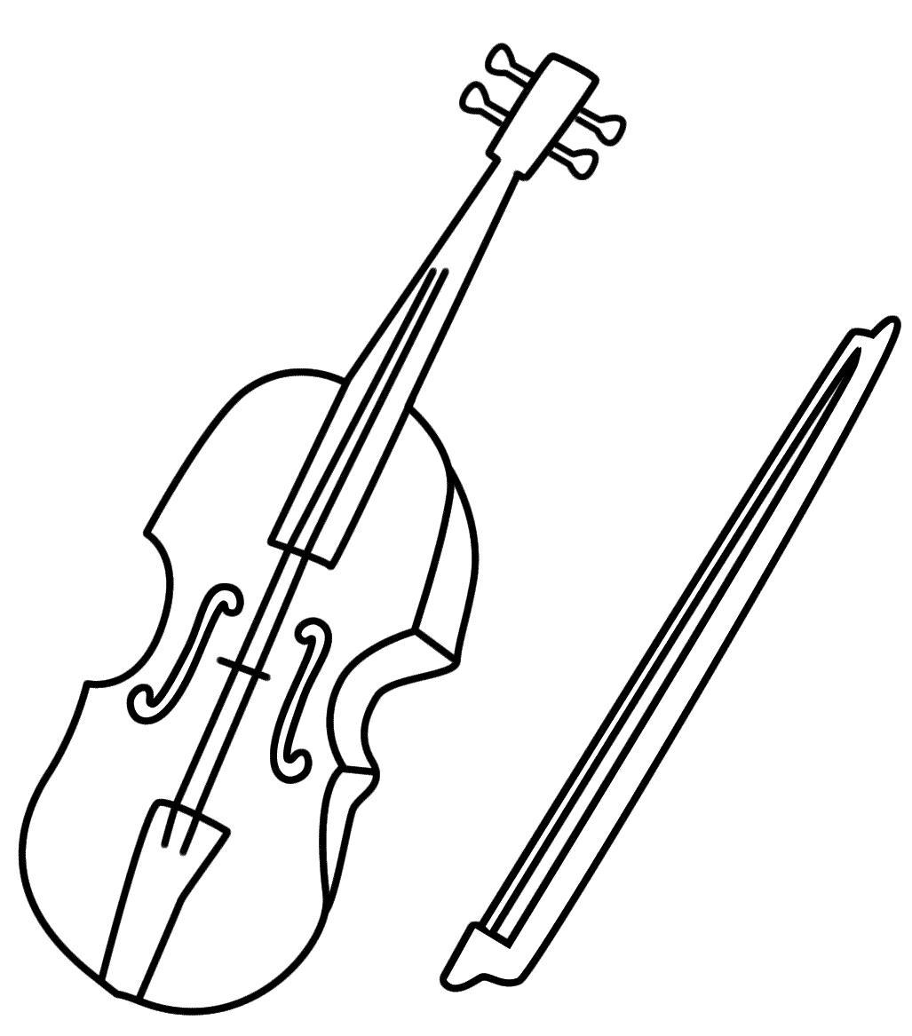 Скрипка Скачать раскраски для мальчиков