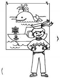 Моряк Раскраски для детей мальчиков