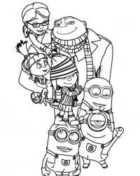 Миньоны Раскраски для детей мальчиков