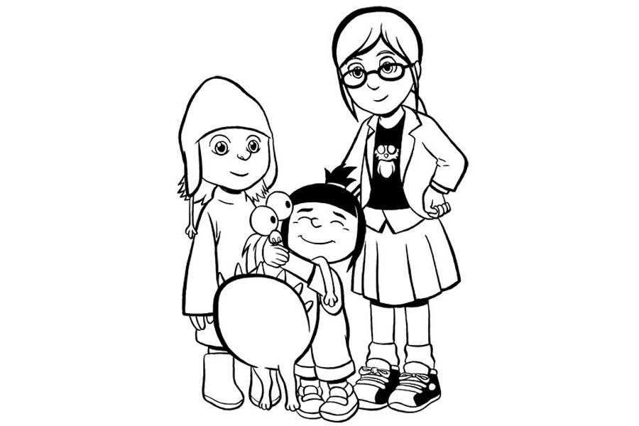 Девчонки из мультфильма гадкий я Раскраски для детей мальчиков