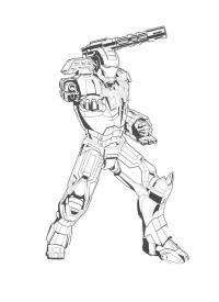 Железный человек с пушкой Раскраски для мальчиков