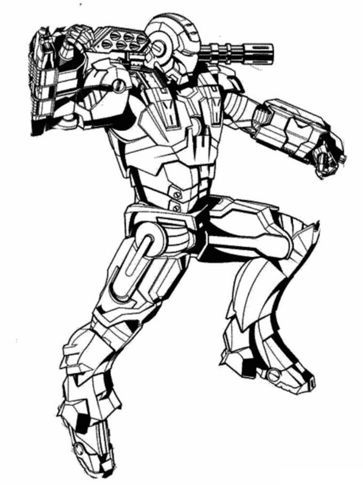 Железный человек с оружием Раскраски для мальчиков
