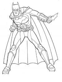 Бетмен Распечатать раскраски для мальчиков