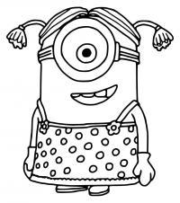 Миньон девочка Раскраски для детей мальчиков