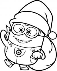 Миньон дед мороз Раскраски для детей мальчиков