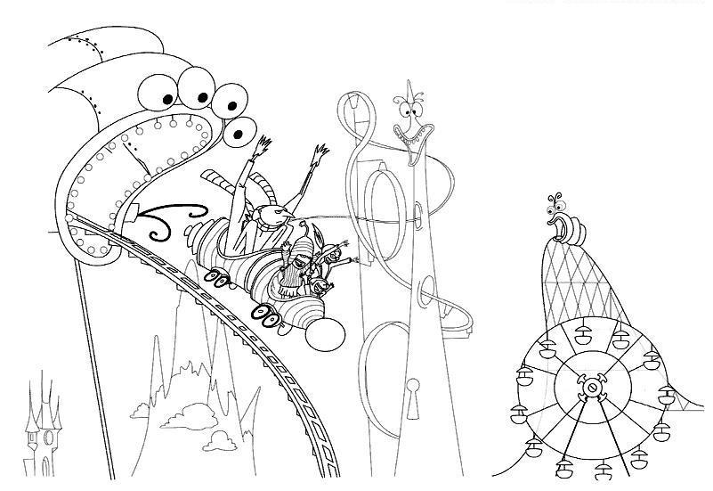 В парке атракционов Раскраски для мальчиков бесплатно