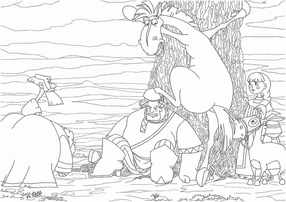 Конь юлий лезет на дерево Распечатать раскраски для мальчиков