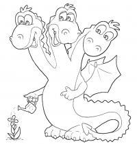 Змей горыныч Раскраски для мальчиков