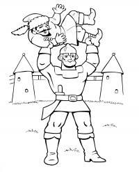 Илья муромец и соловей разбойник Раскраски для мальчиков