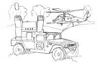 Военный хаммер Раскраски для мальчиков