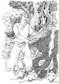 Победа над змей горынычем Раскраски для мальчиков