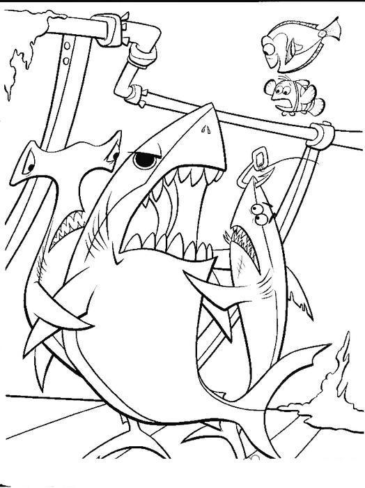 Акулы ругаются Раскраски для мальчиков бесплатно