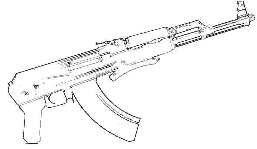 Пистолет дробовик оружие дробовик Раскраски для мальчиков ...