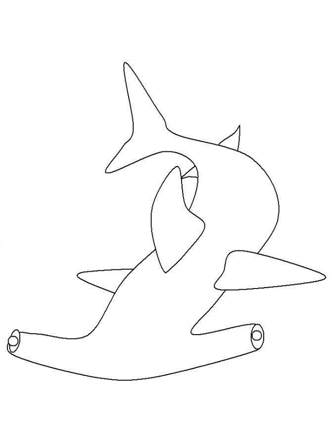 Акула молот плывет Раскраски для мальчиков бесплатно