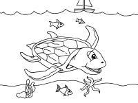 Большая черепаха Скачать раскраски для мальчиков