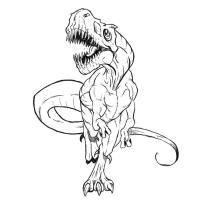Страшный динозавр Раскраски для мальчиков