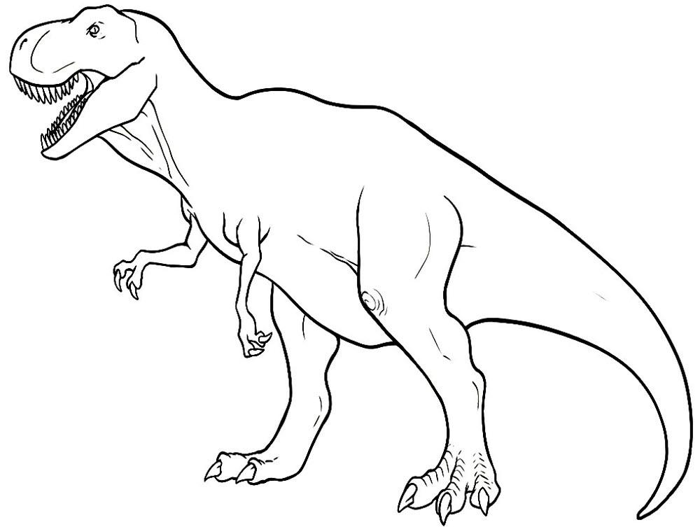 Тиранозавр Раскраски для мальчиков