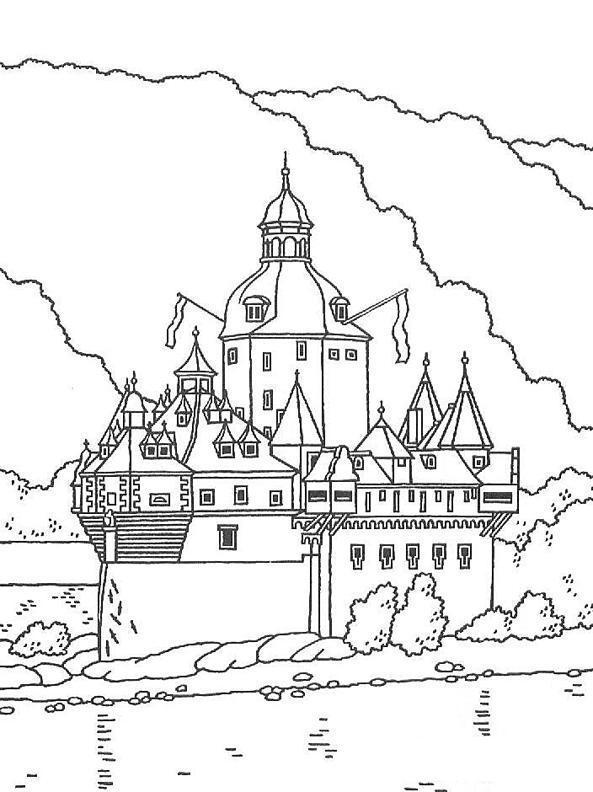 Замок в горах Раскраски для детей мальчиков