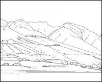 Горы и поля Раскраски для детей мальчиков