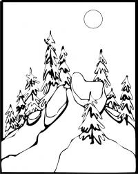 Елки на горе Раскраски для детей мальчиков