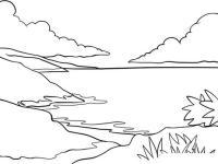 Горный пейзаж Раскраски для детей мальчиков