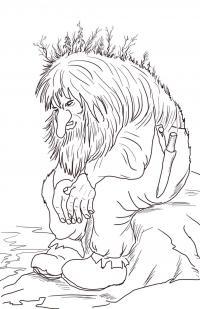 Леший, лесной человек Раскраски для детей мальчиков