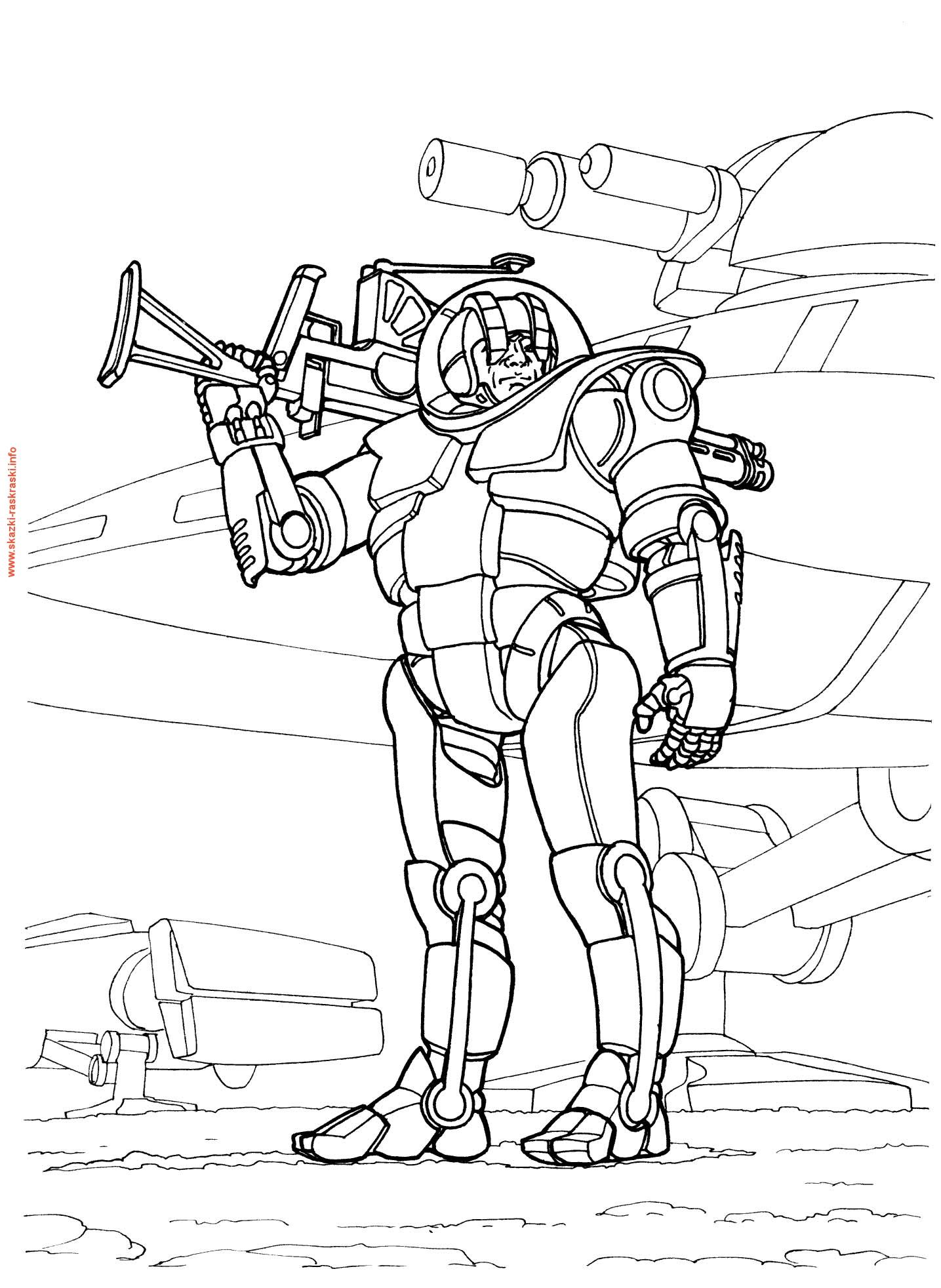 солдат будущего Раскрашивать раскраски для мальчиков