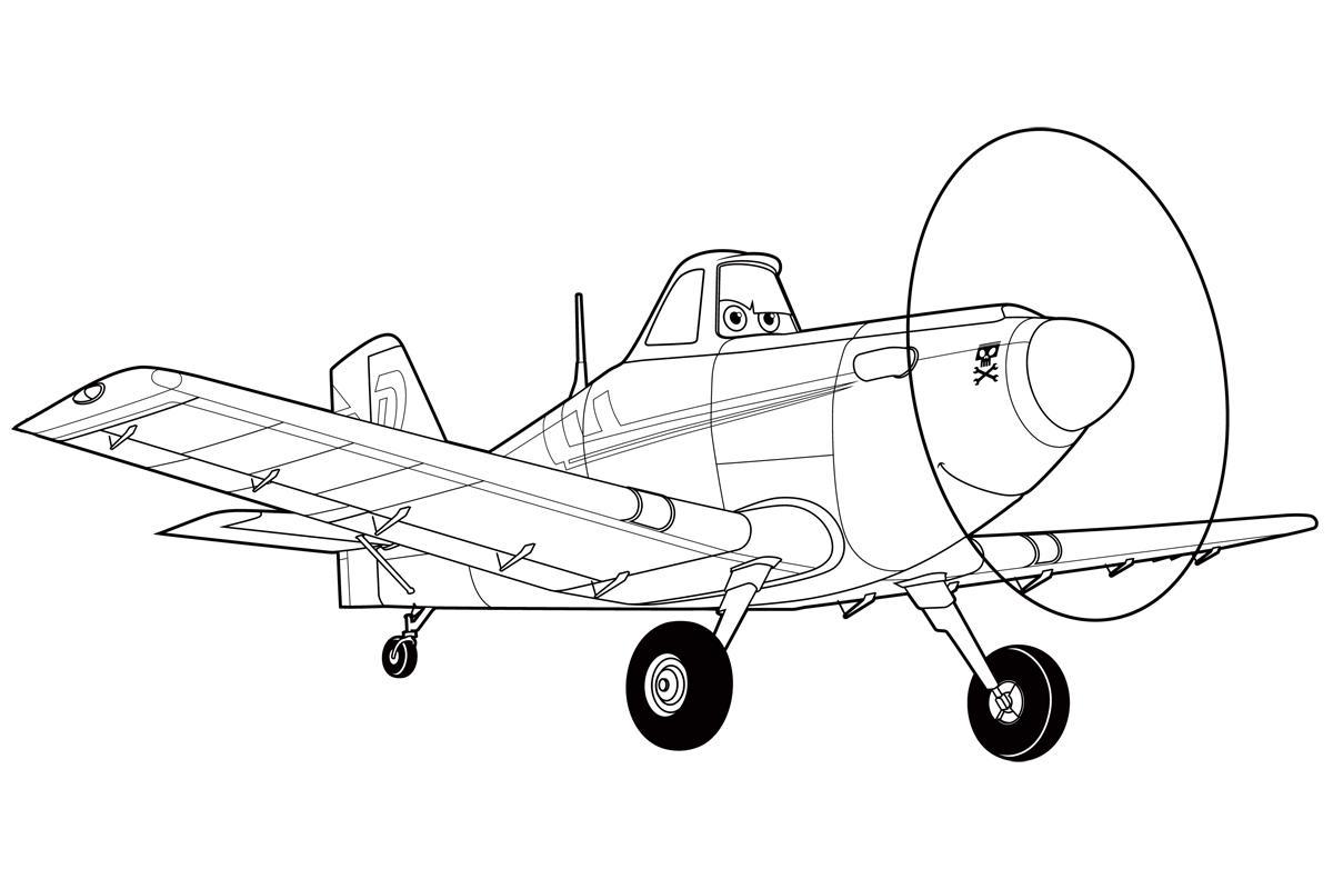 Самолет из мультфильма Раскраски для детей мальчиков